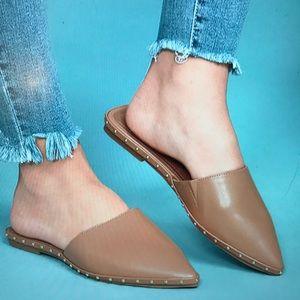 Shoes - Worn once ‼️ camel studded loafer slide